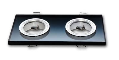 Галогенный прожектор LED стеклянная двойная черная опт