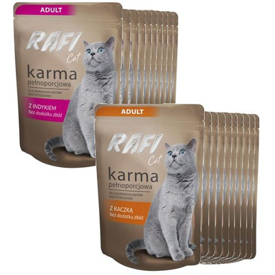 Раффи Cat комплект двух вкусов - паштеты 20 x 100 г