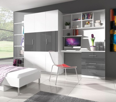Мебель молодежные комплект для детей шкаф белое