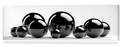 черные шарики 138x45 картина на холсте art белое ???