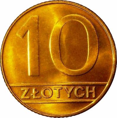 Moneta 10 zł złotych 1989 r mennicza stan 1-