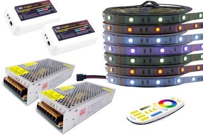 Osvetlenie nábytku LED pás - ZESTAW taśma LED RGB 5050 Mi-Light PREMIUM 4Z 35m