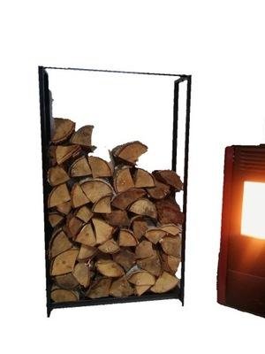 STAND regál kôš na drevo SOLID LIATINY plný tanier