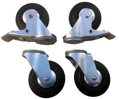 kolesa Sada 4 Ks 100 mm otvor 380 KG ricínového KOLESA