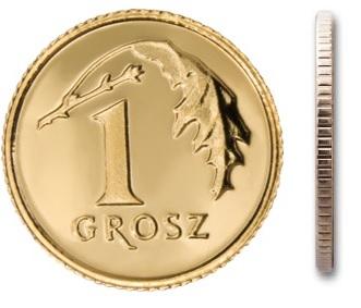 1 gr grosz 1997 mennicza mennicze z woreczka