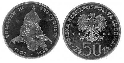 50 zł Bolesław III Krzywousty 1982 r