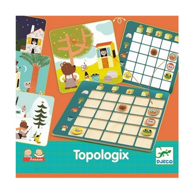 DJECO TOPOLOGIX ukladanka logiczna gra edukacyjna