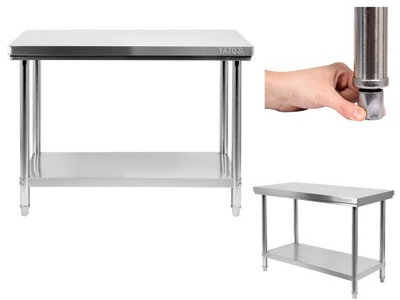 Pracovný stôl, stavebný podstavec -  TABUĽKA JAZYKA YATO 100x70cm NEREZOVÝ POVRCH