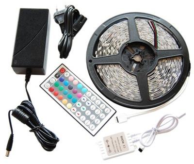 KIT LED Pásy svetlo RGB 5050 10m PREMIUM 300D BIELE !