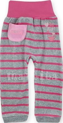 Spodnie spodenki welurowe z szerokim pasem 80 cm