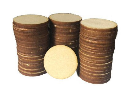 Колеса деревянные кольца Полное эко наклейки 5cm 50шт