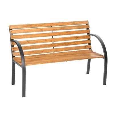 Bench Lavička drevený záhradný dekoratívny 401425