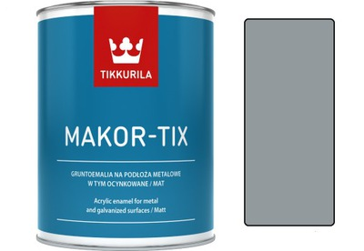 Tikkurila Makor-tix farba, pozinkované 1L sivá metaliczn