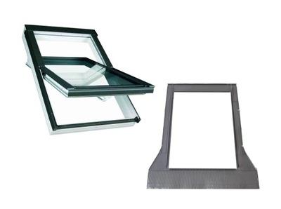 Okno dachowe PVC OptiLight TLP 78x118 cm +kołnierz