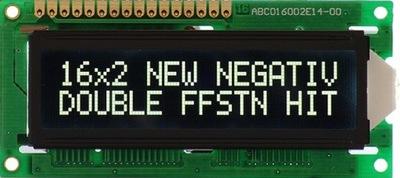 ART New LCD-AC 2x16-W/KK WHITE NEGATIVE Blackline