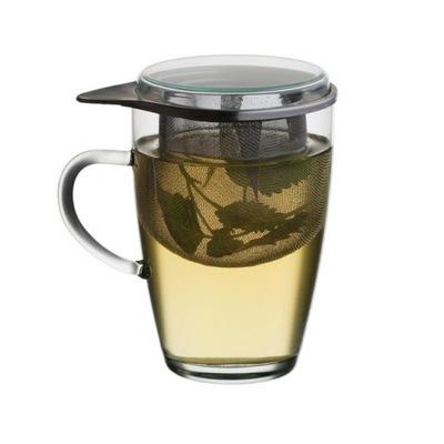 СТАКАН 350мл с заварником для чая с крышкой