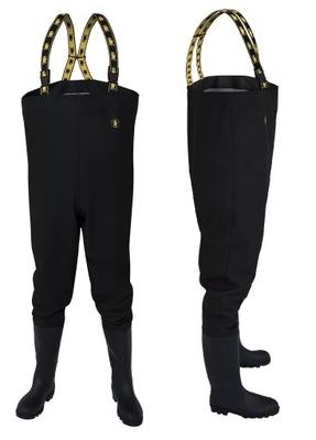 Spodniobuty Wodery SB01 Czarne Wędkarskie PROS 42