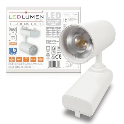 Klblové, koľajové svietidlá - Oprawa szynowa reflektor TRACK 30W=170W LED 2850lm