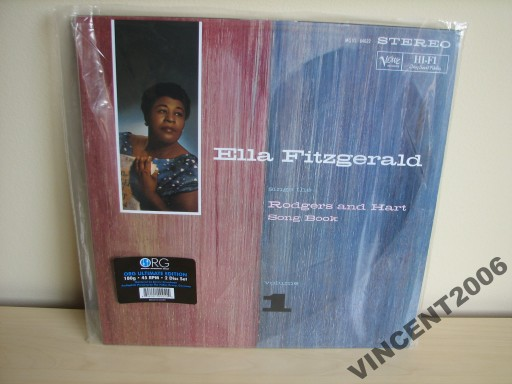 ELLA FITZGERALD RODGERS AND HART SONG 2LP 45RPM