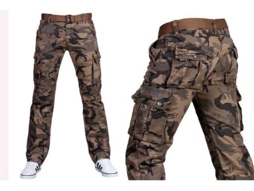 spodnie bojówki moro męskie allegro