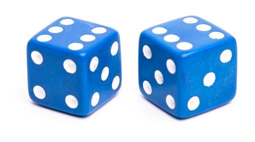 Nakrętki na wentyl niebieskie kości kostki do gry 6000995260 ...