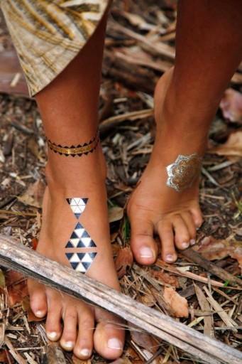 Zestaw Flash Gold Tattoo Złote Tatuaże Metaliczne