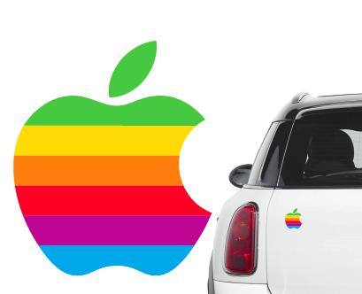 Naklejka na samochód/samochodowa logo apple 70'