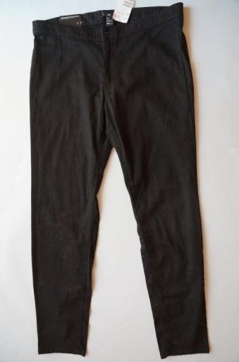 H&M 44 XXL spodnie rurki slim nowe czarne