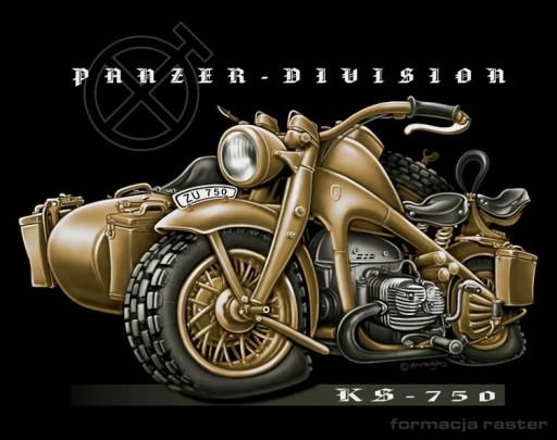 T-shirt Koszulka Zundapp KS750 Panzer - Division
