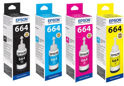 Zestaw Komplet Tusz EPSON L100 L130 L210 L300 L555