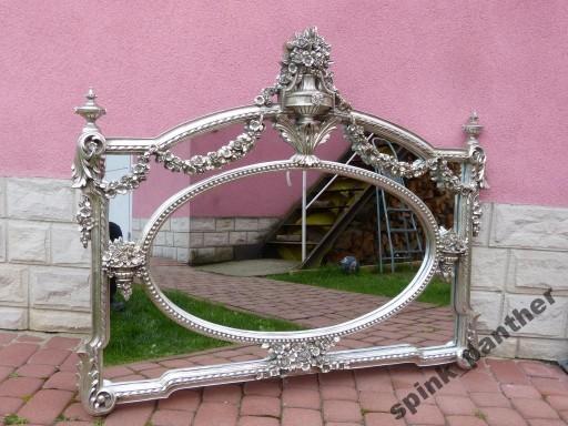 Pałacowe poziome lustro SREBRNA RAMA