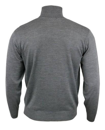 Męski golf (wełna merynos) - popielaty, roz: XXL 7109119130 Odzież Męska Swetry GC ZRLKGC-4