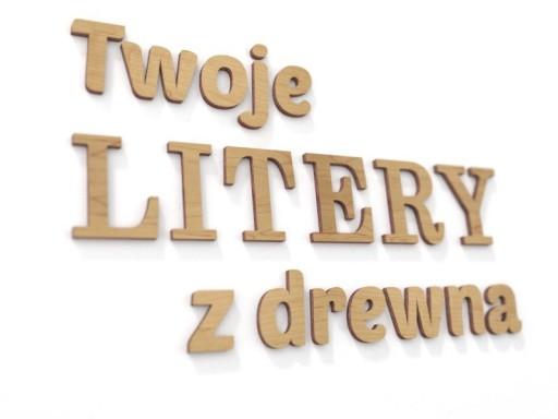 Twój tekst - Litery 3d Napisy na ścianę wys 24cm