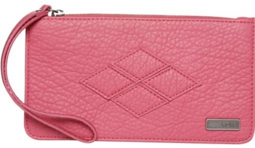 5b400572bea12 Skórzany damski różowy portfel Roxy Atoll 5612080137 - Allegro.pl