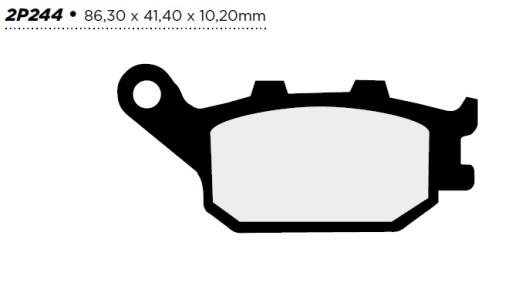 Klocki Nissin Złote Tył Honda VTR 1000 F 98-06