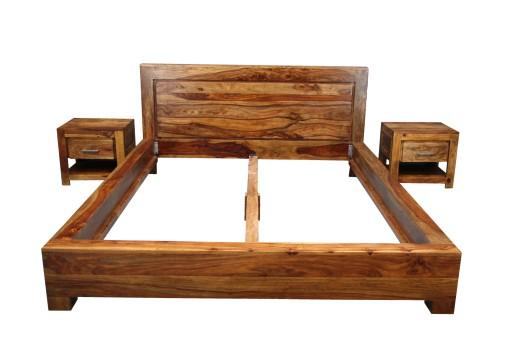Rama Drewniana 160 X 200 Cm Palisander łóżko Life