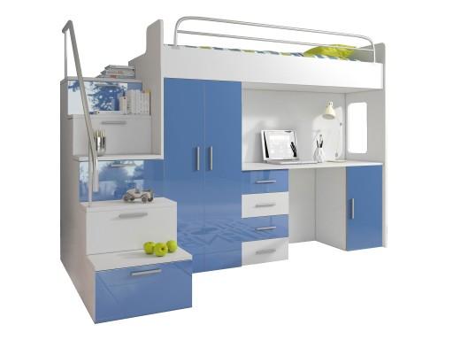 łóżko Piętrowe Raj 4s 7 Kolorów W Połysku 6652734185 Allegropl