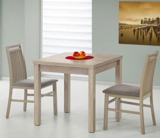 Stół Kwadratowy 80x80 Rozkładany Dąb Sonoma Kuchni