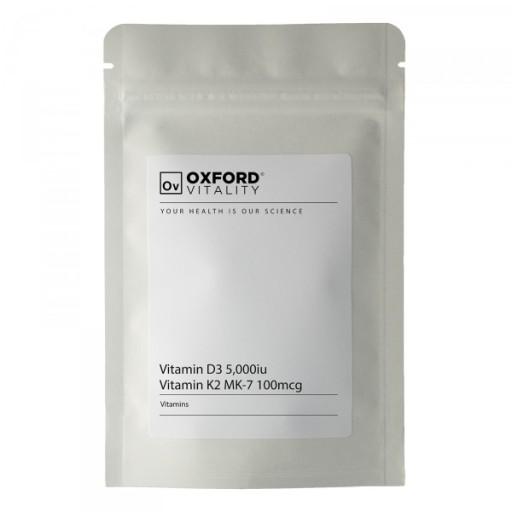 Witamina D3 K2 MK7 5000iu OXFORD VITALITY 500table
