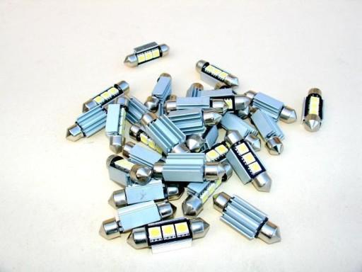 DIODY RURKI 3 X SMD C5W 8.5 C10W LED CAN BUS 42mm