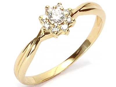 Złoty 585 Pierścionek Zaręczynowy Z Brylant Vvs 7593800829 Allegropl
