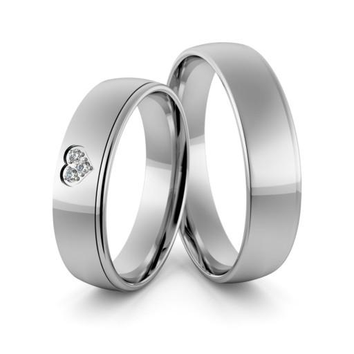 9fc5967bf5 Obrączki srebrne z sercem i cyrkoniami - Ag-358 7027742083 - Allegro.pl