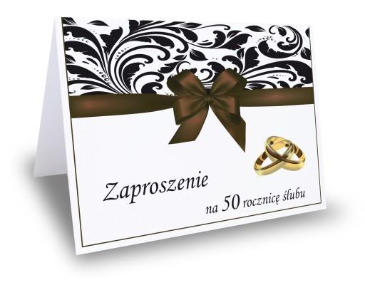 Zaproszenie Zaproszenia Na 25 40 50 Rocznicę ślubu 6307595538