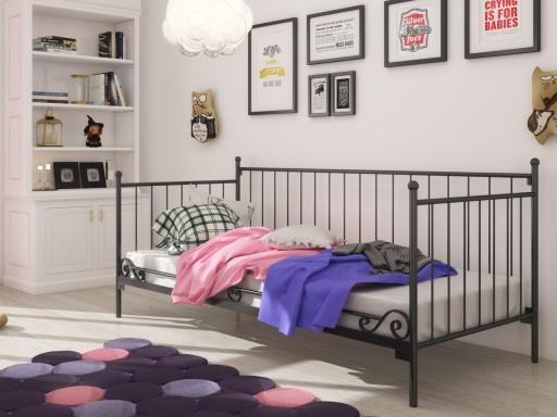 łóżko Metalowe Sofa Salon Sypialnia 90x180 Wzór 14
