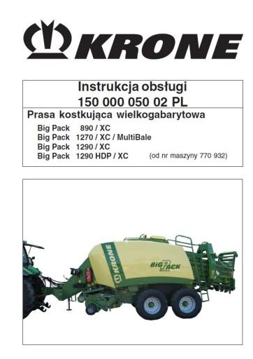 Instrukcja obsługi KRONE BIG PACK 890 1270 1290