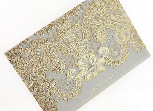 Zaproszenia ślubne Gold Zaproszenie Na ślub 7078288341 Allegropl