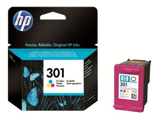HP Tusz 301 Tri-color oryginalny CH562EE