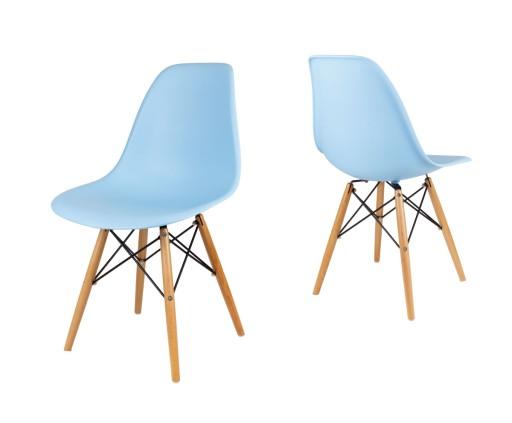 niebieskie krzesła do kuchni