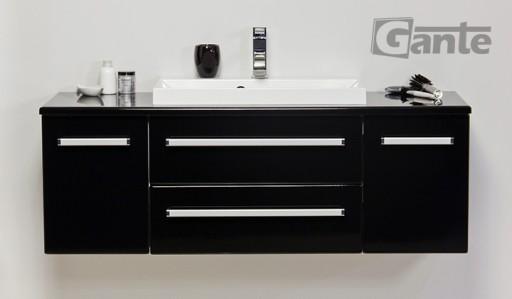 Czarna Szafka Do łazienki Z Umywalką 120 Cm Fokus