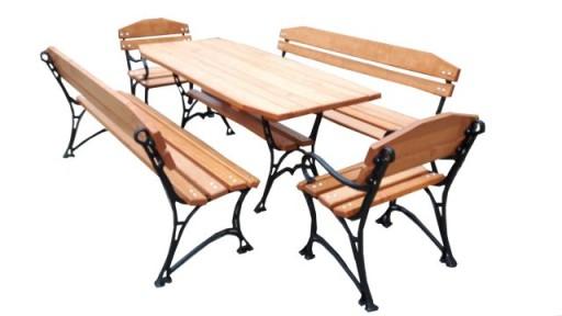 Meble Ogrodowe Drewniane Stol 4 Lawki 180cm Z17 6764969151